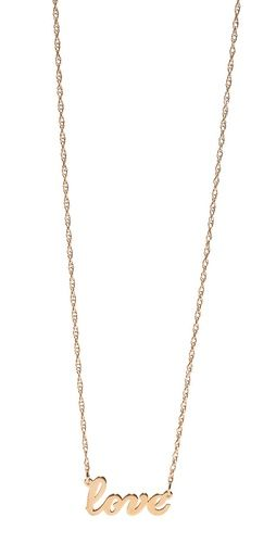 Jennifer Zeuner Jewelry Cursive LOVE Necklace | SHOPBOP