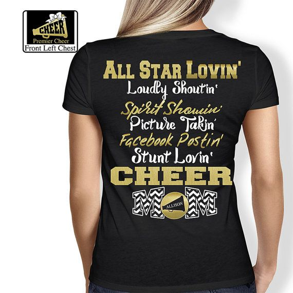 Cheer Mom Shirt Cheer Shirt Cheerleading Gift by Pixidustboutique