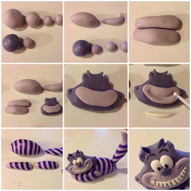 tutorial en: http://kathlsbackstum.wordpress.com/2013/10/08/how-to-make-chesire-cat/