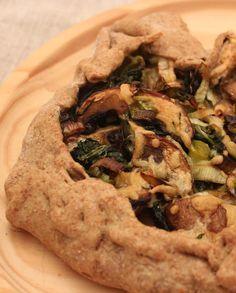 De Cozinha em Cozinha passando pela Minha: Galette de cogumelos e alho francês e uma massa de espelta integral