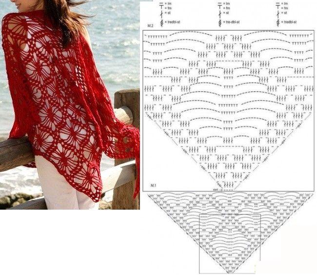 225 best CHAL DE GANCHILLO images on Pinterest | Crochet patterns ...