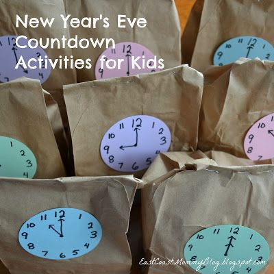 East Coast Mommy: New Year's Eve Countdown Activities for kids