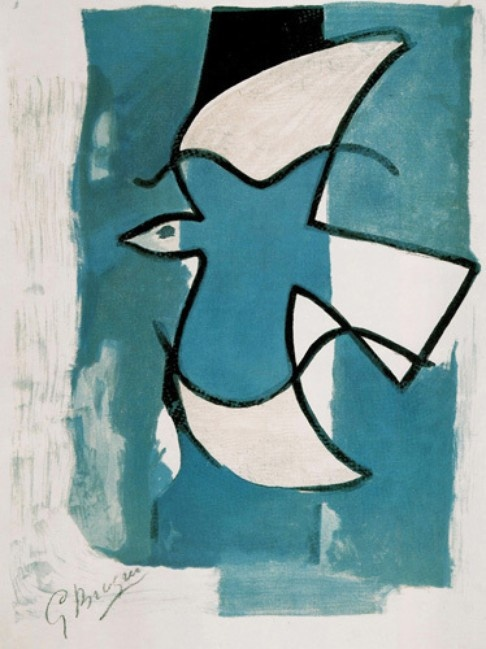 The Blue and Grey Bird (1962) Georges Braque.  Art Experience NYC  www.artexperiencenyc.com/social_login/?utm_source=pinterest_medium=pins_content=pinterest_pins_campaign=pinterest_initial