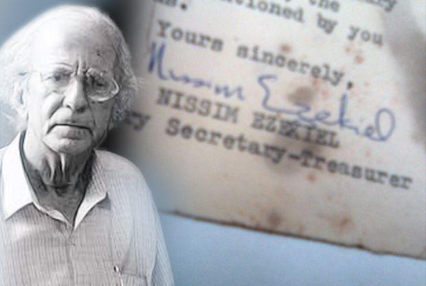 India's most famous Jewish poet, Nissim Ezekiel
