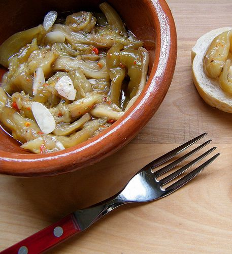 Berenjenas en Escabeche (Pickled Eggplant): I know what you're thinking, but honestly, it's delicious!