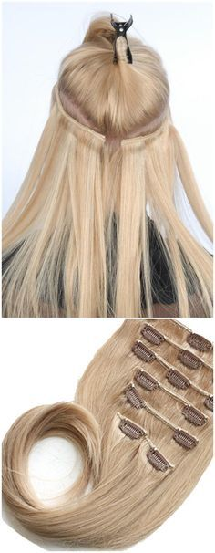 Clip in natural hair extensions, make your right hairstyle. Here all hair extensions get ready for your coming!