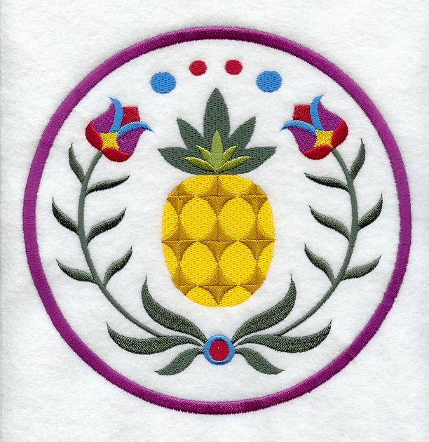 Pineapple Welcome Pennsylvania Dutch Hex Sign