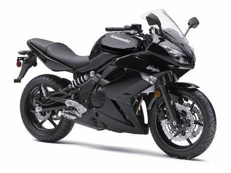 (Black Kawasaki Ninja 650-R)