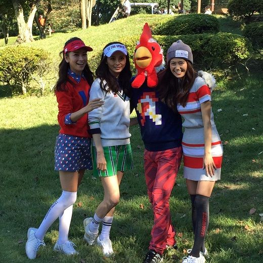 le coq golf ゴルフファッション #lecoq #ルコック #ゴルフ #ゴルフファッション #GOLF #押切もえ #葛岡碧 #森絵里香