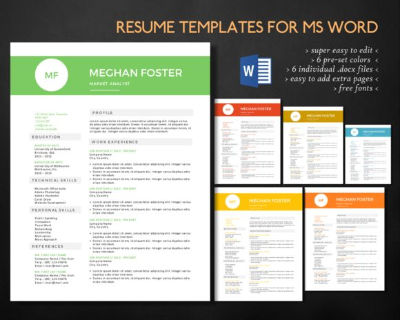1000 images about microsoft word resume templates on