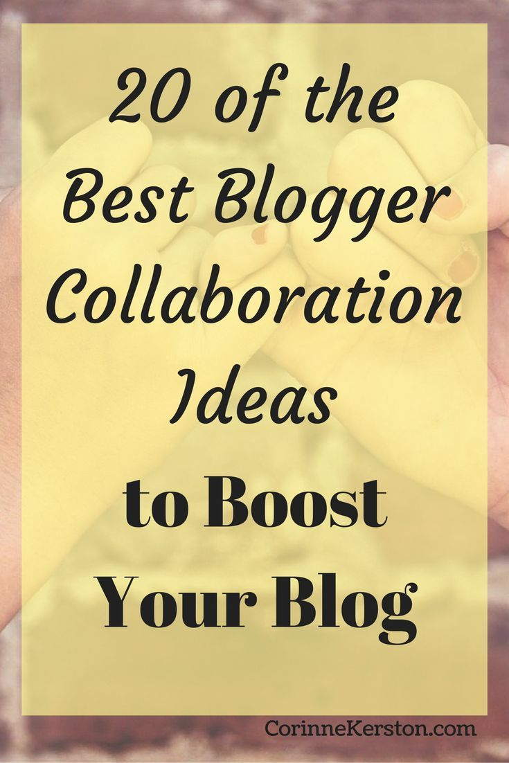 Want to really boost your blog? Here are 20 of the best blogger collaboration ideas that will help you boost your blog. Click to read more!  via /corinneck/