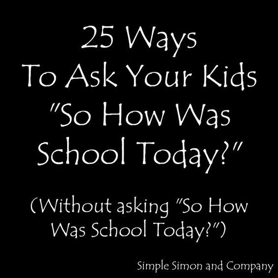 "This year Simon is in 4th grade and Grace is in 1st grade and I find myself asking them every day after school, ""So how was school today?"". And everyday I get an answer like ""fine"" or ""good"" which doesn't tell me a whole lot. AND I WANT TO KNOW A WHOLE LOT!!!! Or at […]"