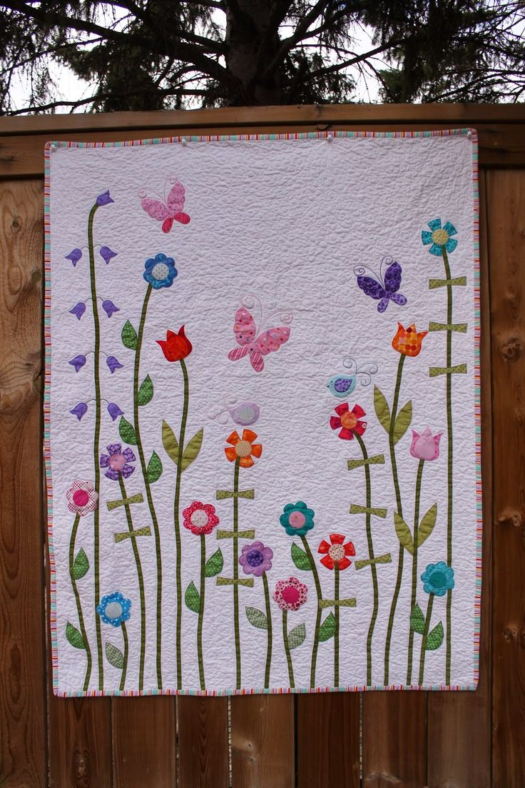 Baby Girl Flower Applique Quilt | Making More with Less