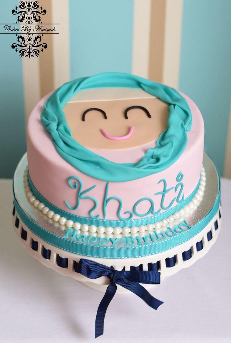 cakesbyaminah #cake #sugar #fondant #birthday #hijab #pearl #elegant ...