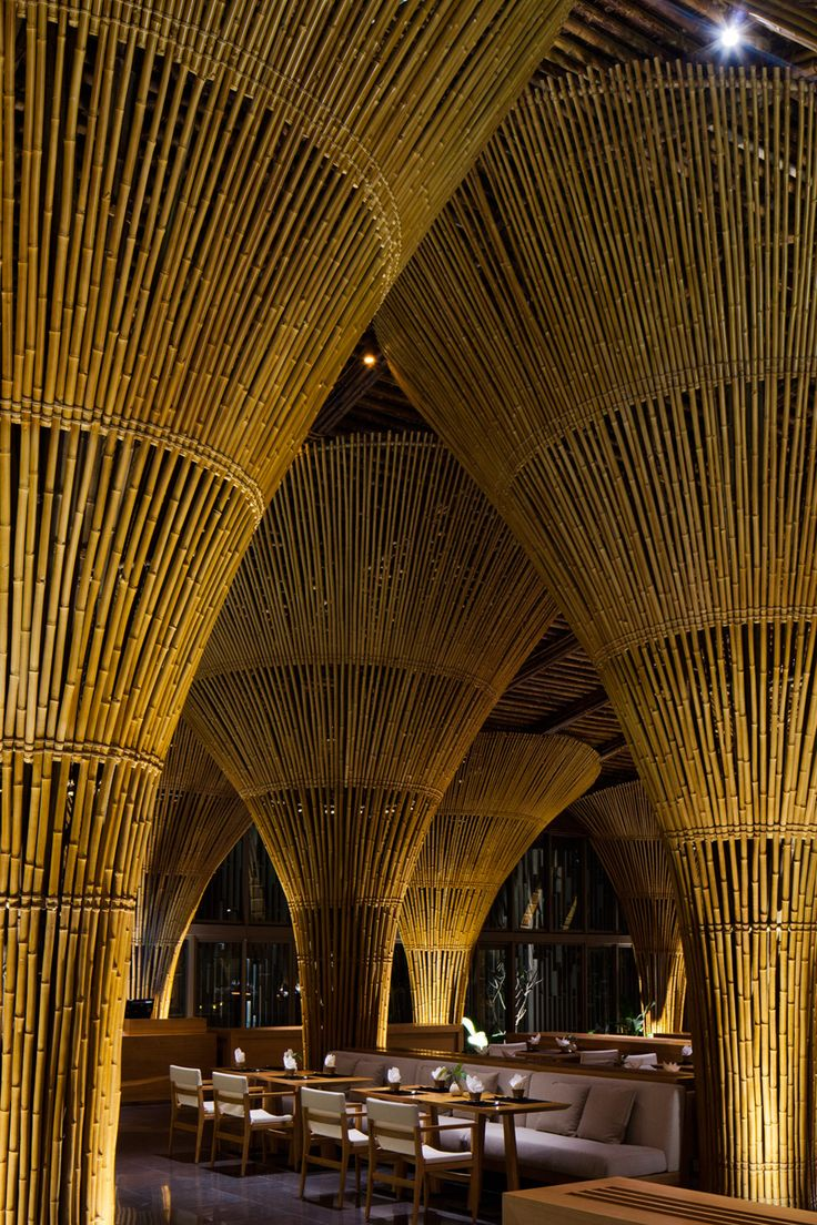 best 25+ bamboo restaurant ideas on pinterest | resort interior