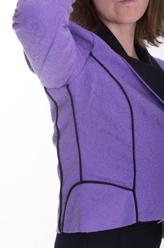 donna slim fit blazer giacca viola abbigliamento di JolyDagmara