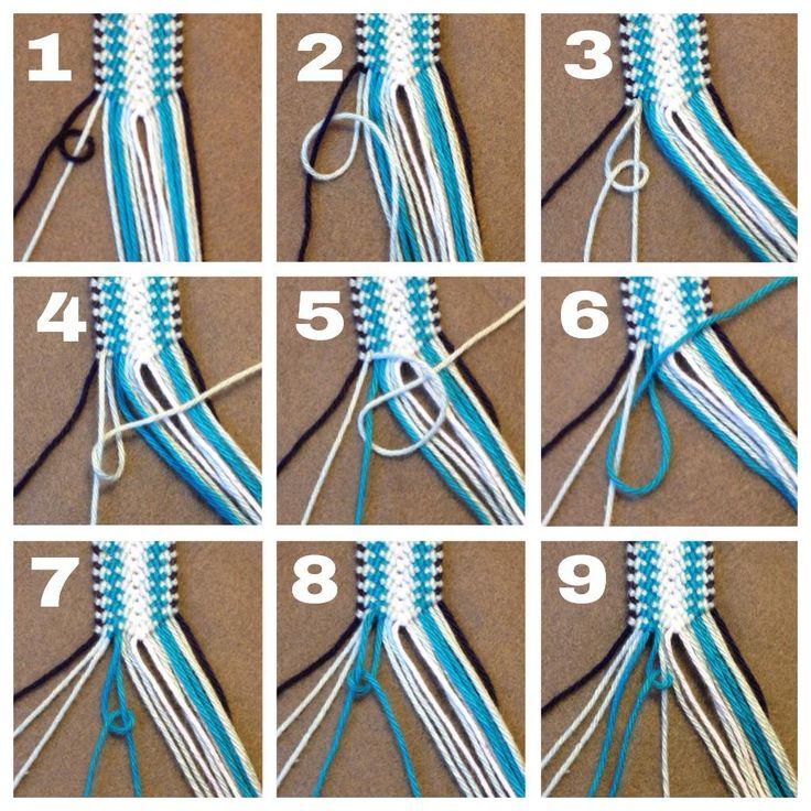 tutorial friendshipbraceletsnet macrame pinterest