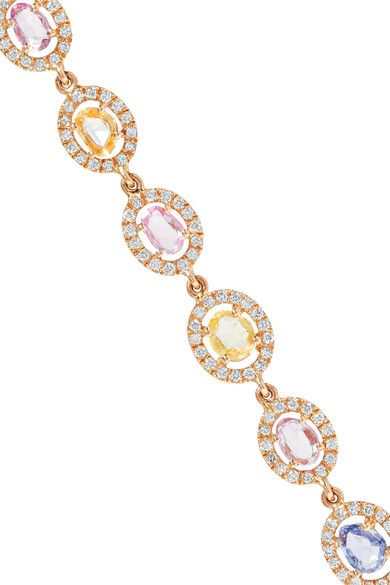 Amrapali - Blossom 18-karat Gold, Sapphire And Diamond Earrings - one size