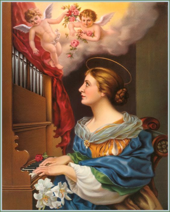 St. Cecilia - Martyr, Patroness of Church Music; Feast: November 22 St. Cecilia, glorious Virgin and Martyr of Jesus Christ, I admire the courage with which you professed your faith in the face of severe persecution, and the generous love with which you offered your life in witness to your belief in the Blessed Trinity. I thank God with you for the wonderful graces He had bestowed upon you to make your life holy and pleasing to Him even in the midst of the wealth that was yours.