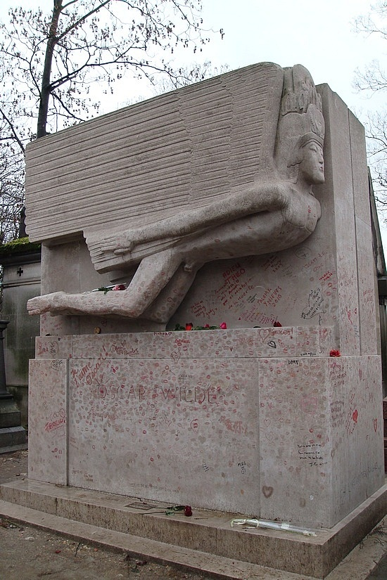 Each man kills the thing he loves.  Including Oscar's tomb. It is getting so damaged that they are going to put a barrier around it.