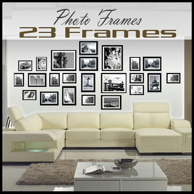Multi Picture Photo Frames Wall Set 23PCS 176cm x 80cm Art Deco Home Gift