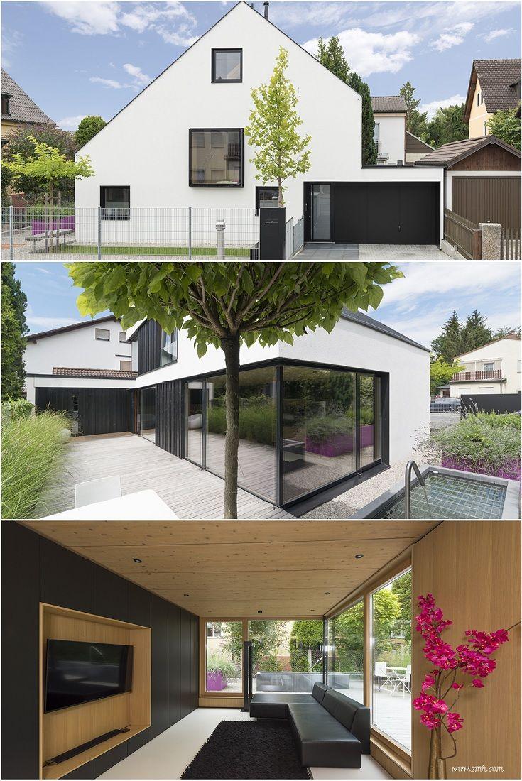 Modernes Design In Holzbau Offener Wohnbereich Mit Grossen