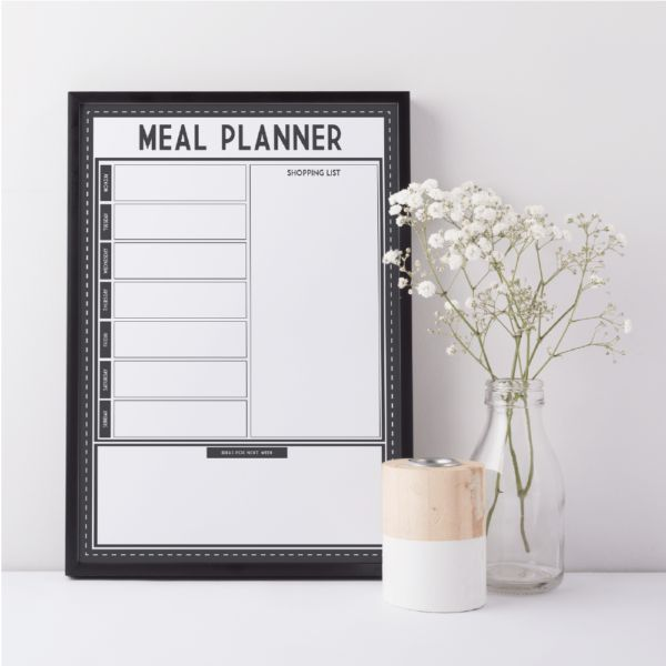 What's for dinner? The question asked in households all around the world. With a reusable Meal Planner, you'll never hear the question again. Dry erase, works like a whiteboard. Beautiful and practical solution. www.atpcreativedesign.com
