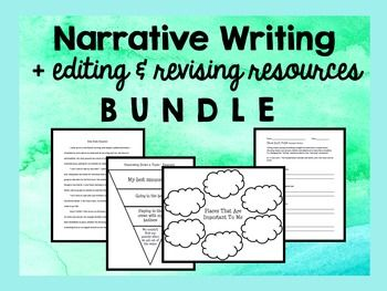 Narrative Writing :: Writer's Workshop PLUS Editing & Revising :: Here is a…