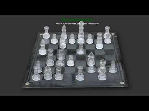 Ajedrez de Vidrio - ÑOÑO Animación de la partida Evergreen, también conocida como la Inmortal de Anderssen