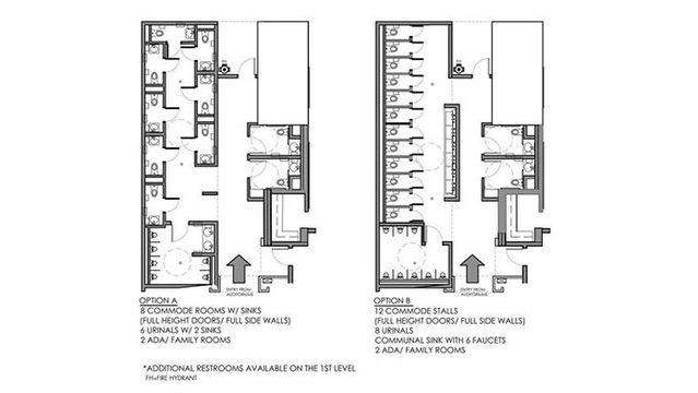 Drafthouse S Gender Neutral Bathroom Suggestions Result In 2 Options Gender Neutral Bathrooms Public Restroom Design Restroom Design