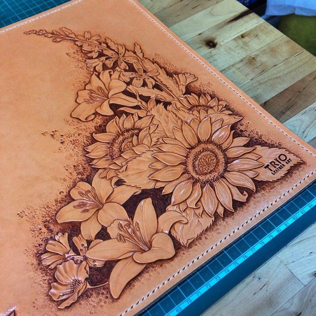 Best leather tooling images on pinterest art