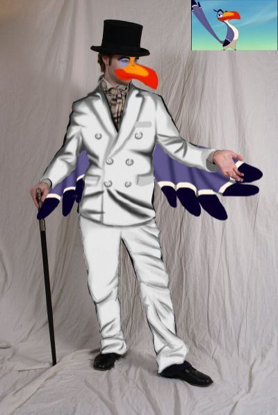 Zazu costume -incomplete- by willow-jack