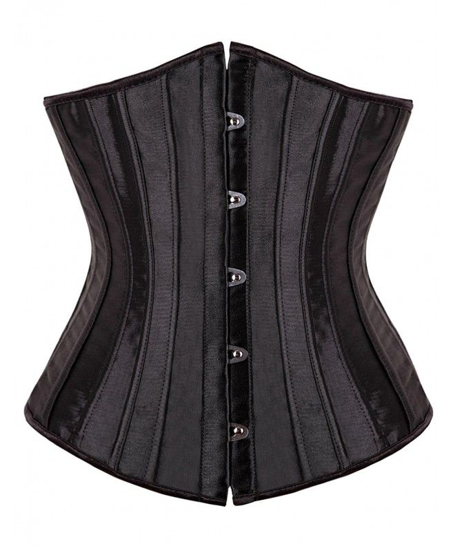 1dfaed8e4 Women s Underbust Waist Training Boned Corset Bustier With G-String -  C211TAUX3OR