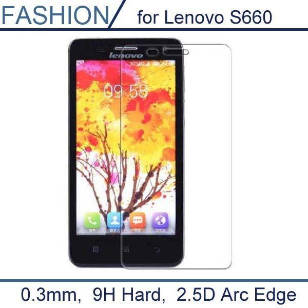 0.3mm Tempered Glass Film for Lenovo S660 S 660 9H 2.5D Arc Edge High Transparent Screen Protector Film with Clean Tools [Affiliate]
