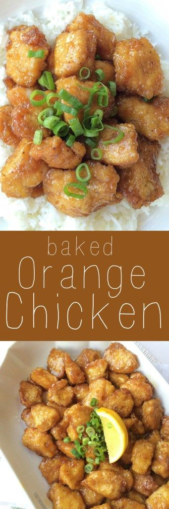 This baked orange chicken is identical to the classic Chinese orange chicken you would get as takeout but it's baked ! Coated in egg & cornstarch and baked in a sweet and delicious orange sauce. This is a dish that you will want to make over and over again.