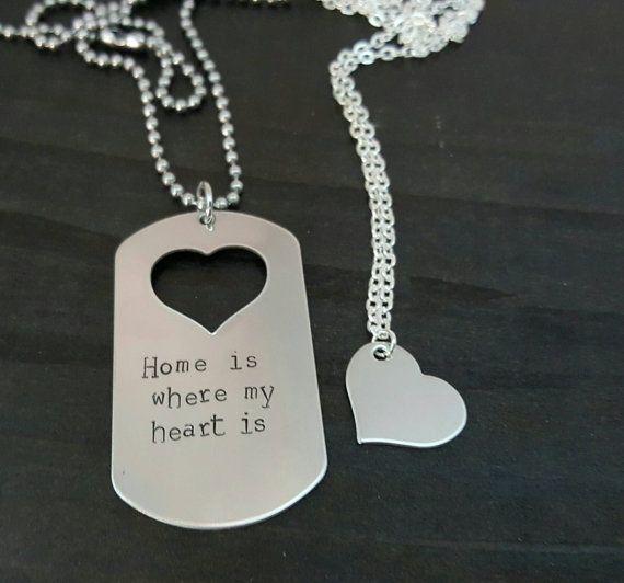 Casa è dove il mio cuore è Coppie militari di MissAshleyJewelry