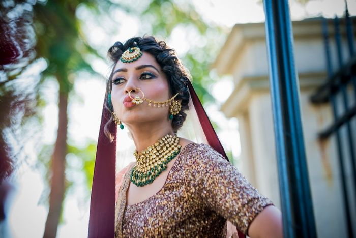 Stuck in the real vs imitation conundrum? While a real polki or jadau set has its own charm, these days imitation bridal jewellery is not far behind! Here are some brides who rocked artificial jewellery on their wedding with so much grace...