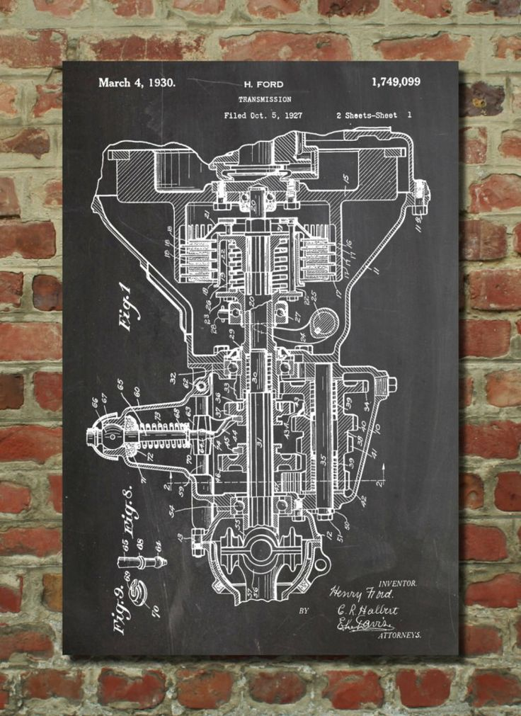 66 best blueprint images on pinterest spaceships rockets and henry ford transmission patent poster malvernweather Gallery