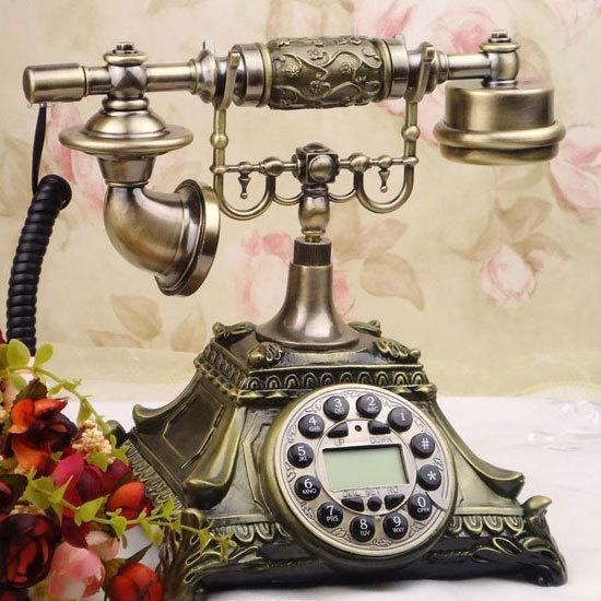 Korean Fashion Vintage Phones Bronze Finish Old Classic Telephone Antique Phone