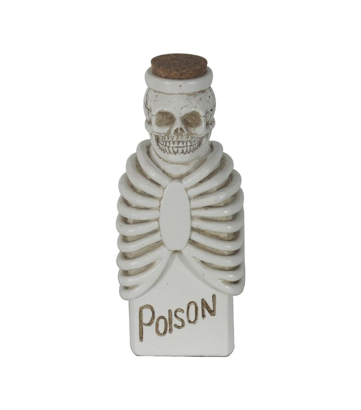 Maker's Halloween Tall Skeleton Potion Bottle-Natural