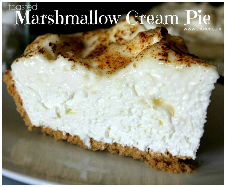 Toasted Marshmallow Cream Pie