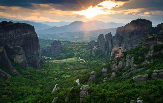 Meteora |The uniquely beautiful massifs of Meteora and its monasteries on the top of them are fairly among the monuments of the world's cultural heritage.© wondergreece.gr
