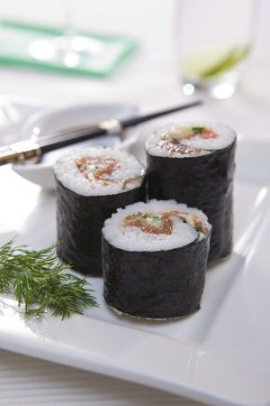 Japanese Nori Roll with HUON Gravadlax