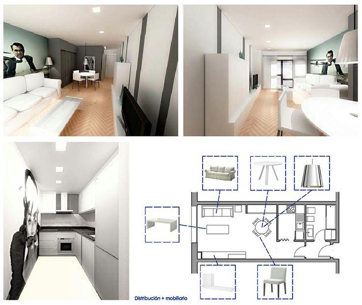 13 best Reforma Integral de Apartamento en Madrid images on - einrichtung kleine wohnung tamar rosenberg