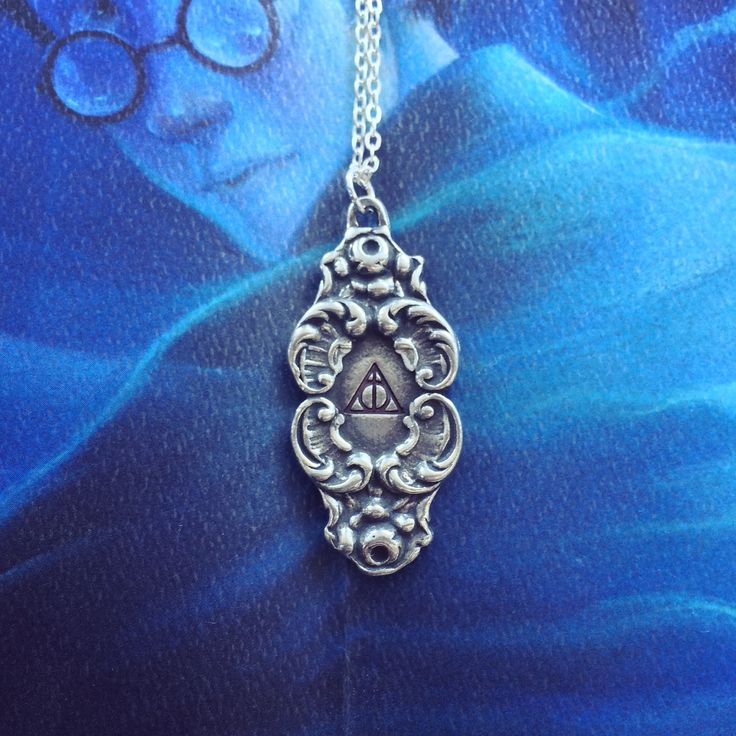 Deathly Hallows Flourish Pewter Necklace
