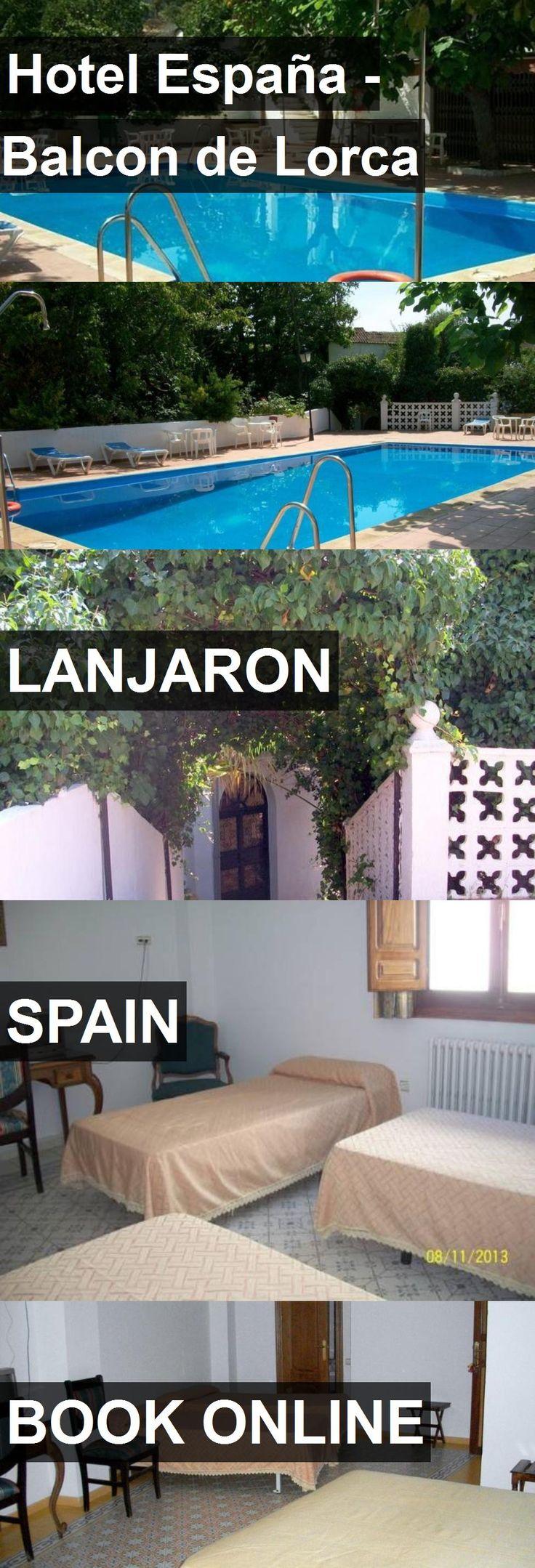 Hotel Hotel España - Balcon de Lorca in Lanjaron, Spain. For more information, photos, reviews and best prices please follow the link. #Spain #Lanjaron #HotelEspaña-BalcondeLorca #hotel #travel #vacation