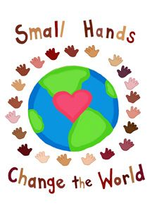"""""""Small Hands Change the World""""by farah aria from my multicultural illustration portfolio: mailto:faraharia@..."""
