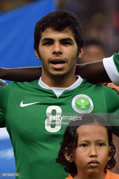 Yahia Alshehri of Saudi Arabia during the 2018 Russia FIFA World Cup and 2019 UAE Asian Cup Preliminary Round 2 joint qualifying match between...