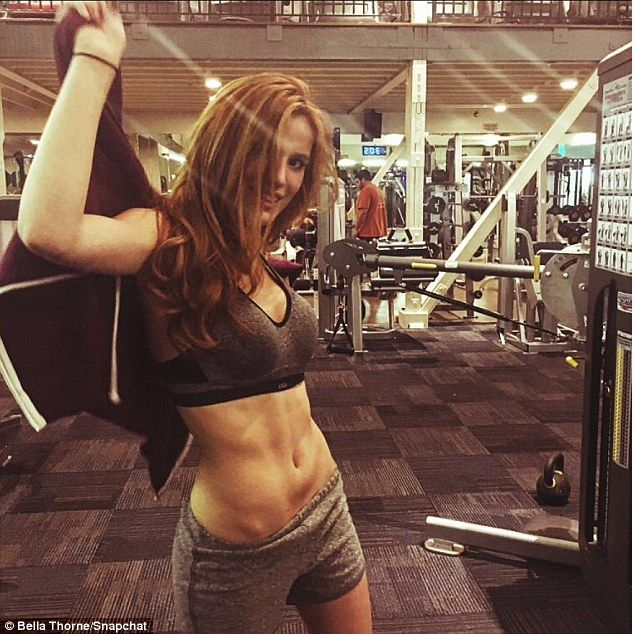 Keeping busy! Bella Thorne flaunted her body as she worked out on Wednesday following her split from boyfriend Gregg Sulkin