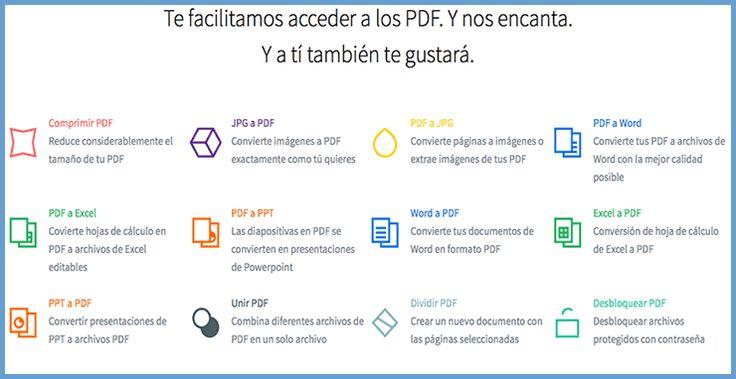 Conversor online de PDF a otros formatos.